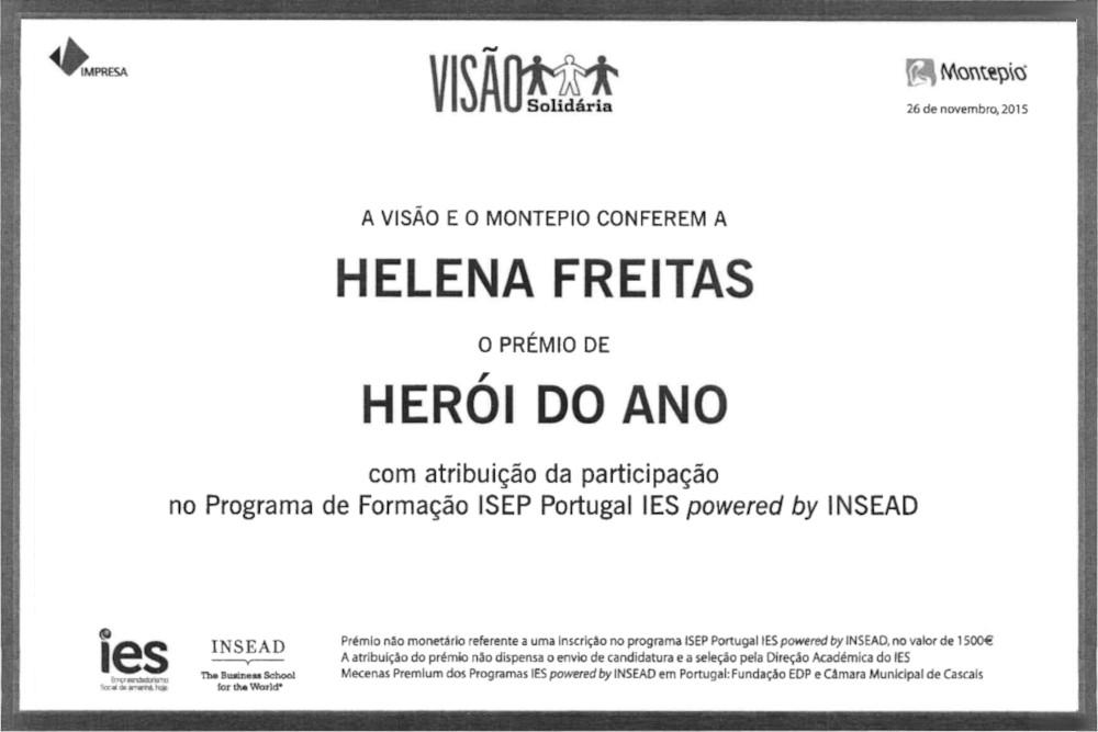 Prémio Herói do Ano   Helena de Sousa Freitas