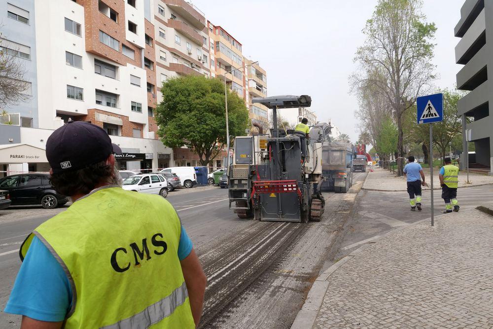 Repavimentação da Avenida D. João II