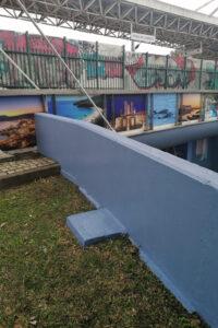 Túnel do Quebedo   requalificação   instalação de painéis com imagens