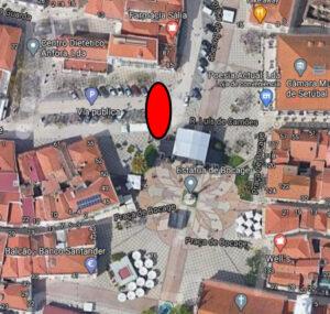 Praça de Bocage | Rebaixamento de passadeiras | Localização