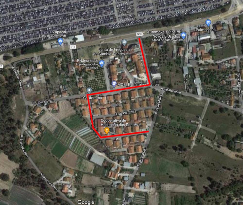 Repavimentação da Rua dos Resistentes | Localização