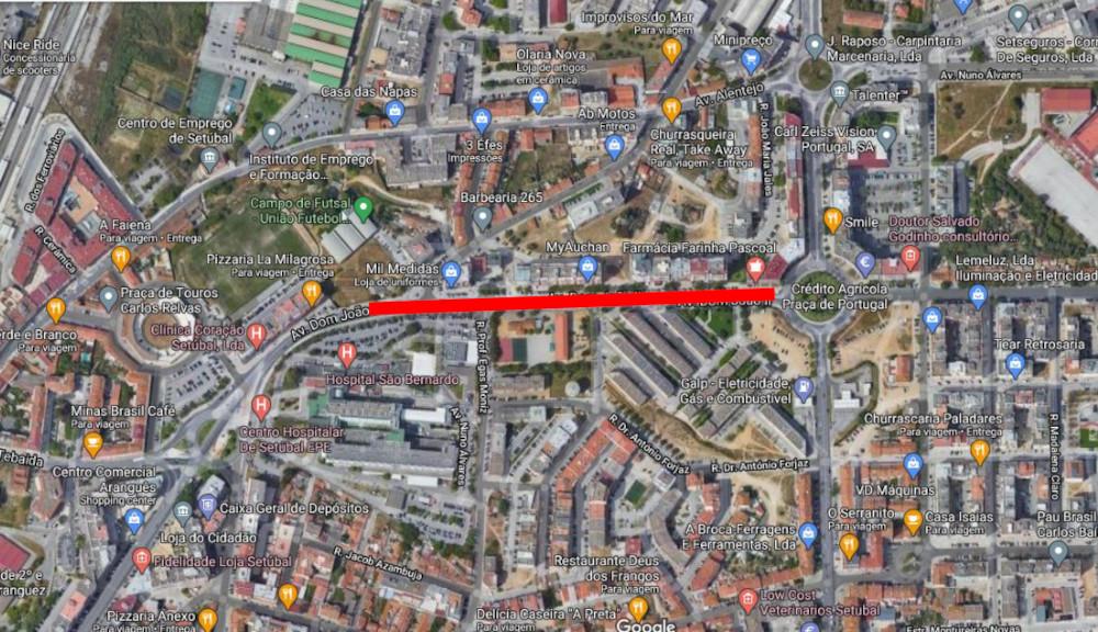 Repavimentação de troço da Avenida D. João II | Localização