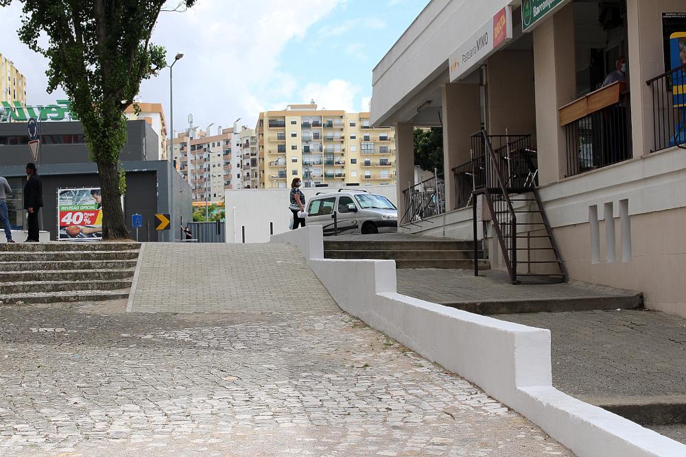 Melhoria da acessibilidade na Avenida Nuno Álvares | Foto da JFSS