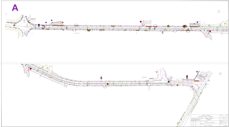 Coletor de águas pluviais   EM 536-1   Planta de layout