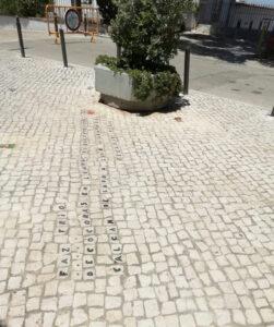Homenagem aos calceteiros | Largo do Miradouro (junto do Museu do Trabalho Michel Giacometti)