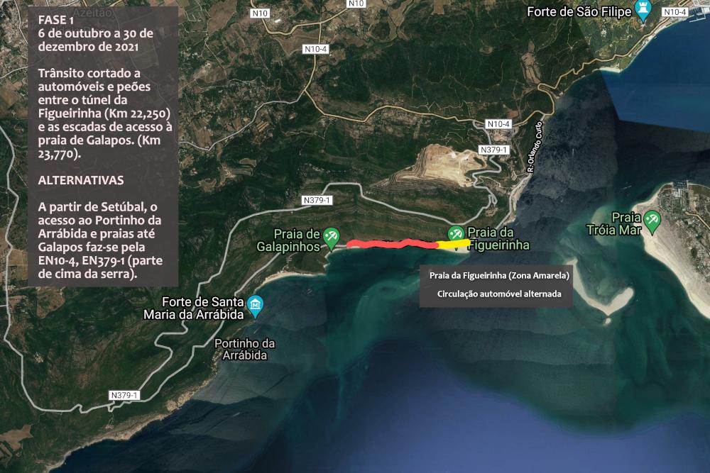Trânsito cortado na Serra da Arrábida